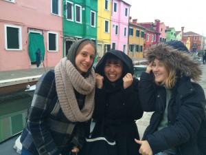 イタリアの友達と記念写真