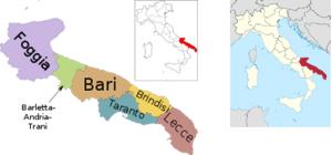 プッリャ州地図