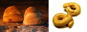 丸パンとタラッリ